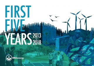 first Five-year-report EKOenergy cover photo