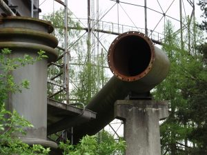 old gaspipe ending in nature
