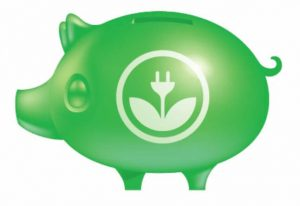 piggybank with EKOenergy logo