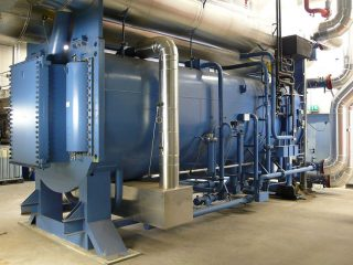 Picture of an industrial heat pump