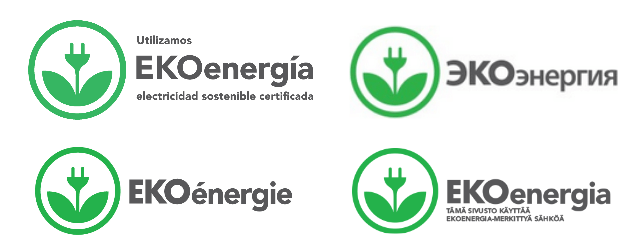 EKOenergy logo in four languages