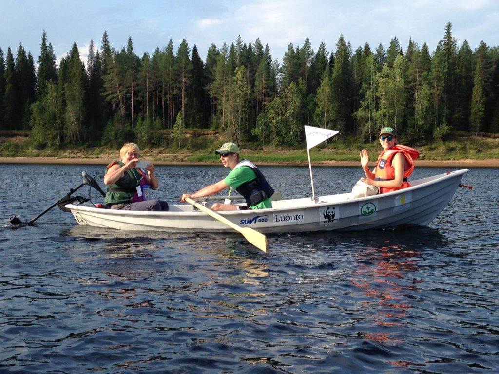 EKOenergy rowing event on the only free flowing branch of Kemijoki