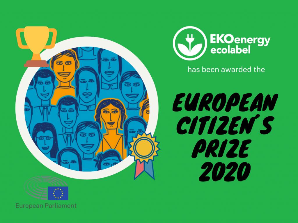 EKOenergy won European Citizen's Prize 2020