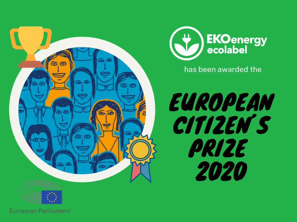 EKOenergy won European Citizen's Prize 2020