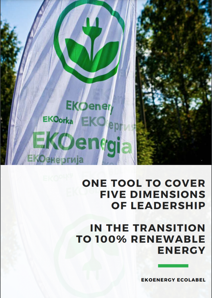 Cover page of EKOenergy's publication